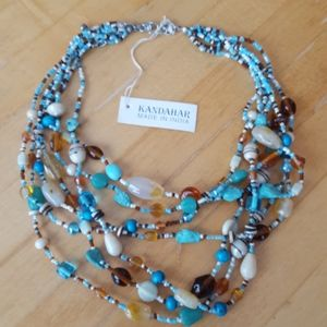Beaded necklace. NWT. 7 strands.